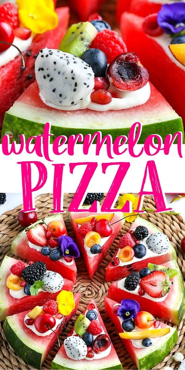 "pinterest image of watermelon pizza with text ""watermelon pizza"""