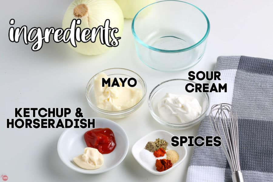 labeled picture of ingredients for dipping sauce