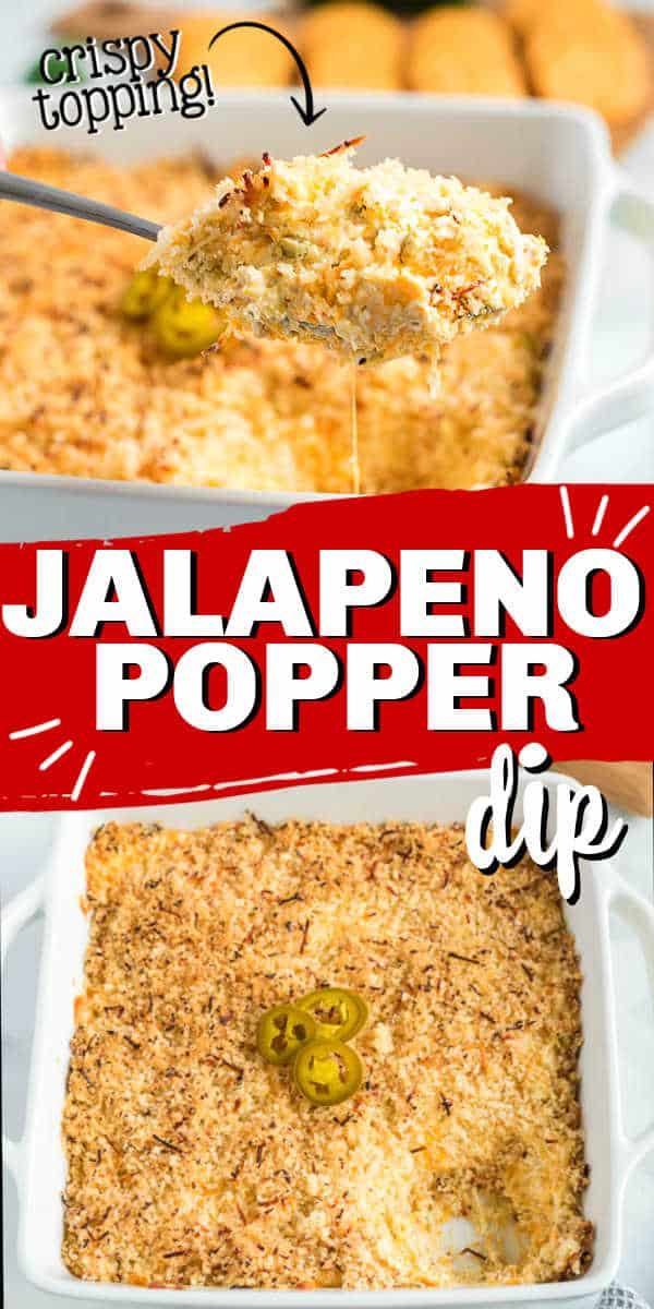 "pin collage of jalapeno dip with text ""jalapeno popper dip"""