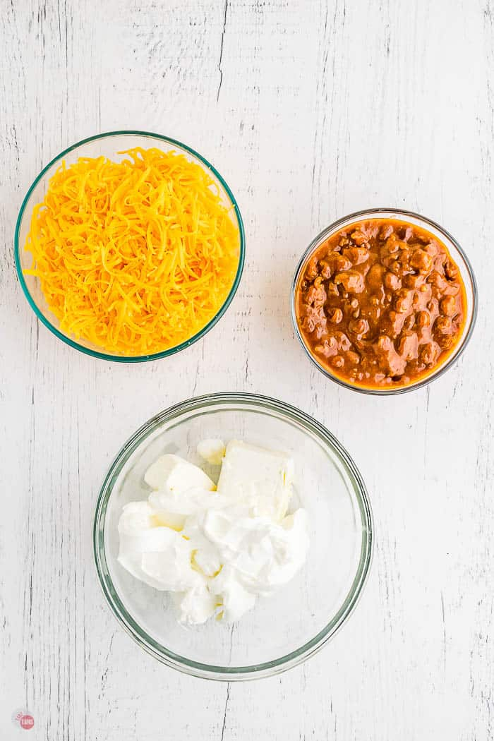 ingredients for frito pie dip