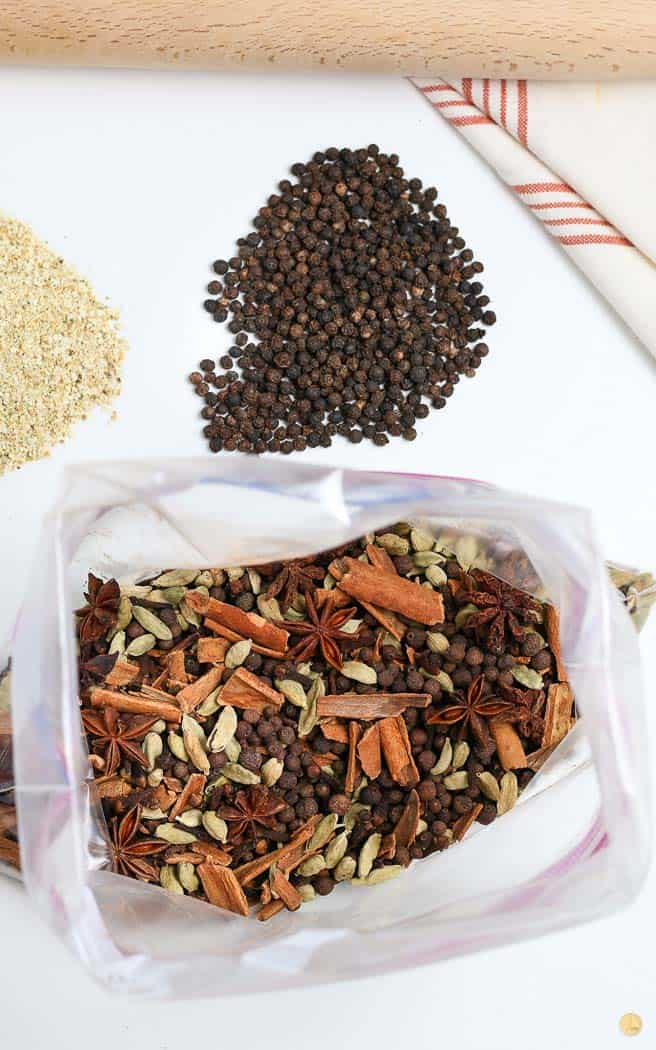 spice mix in a bag
