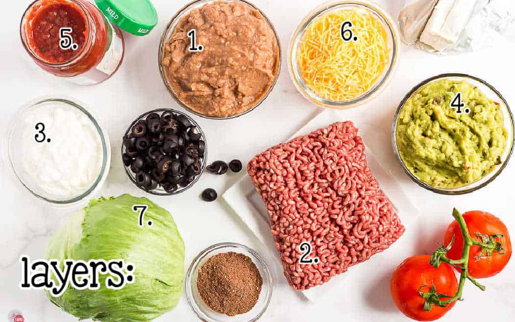 labeled pic of dip ingredients