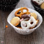square picture of halloween snack mix