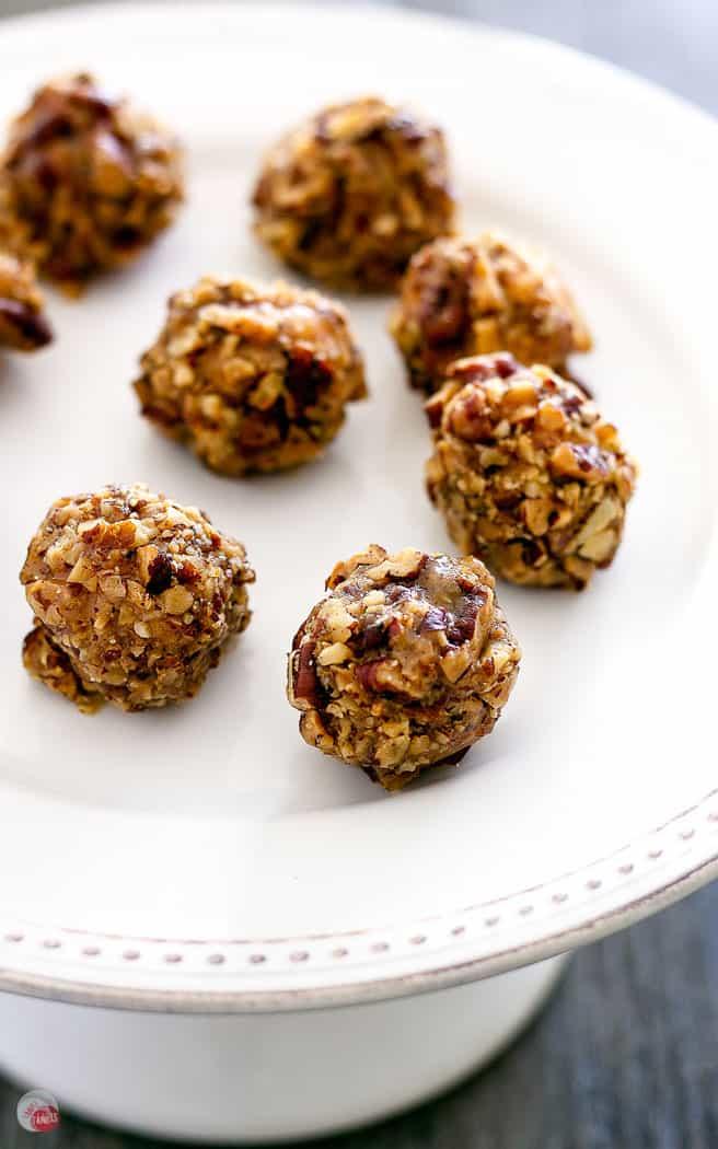 truffles on a white platter