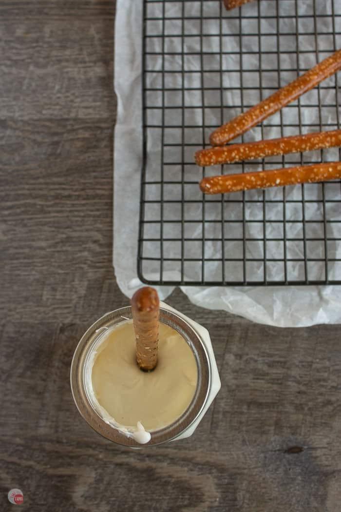 pretzel in chocolates
