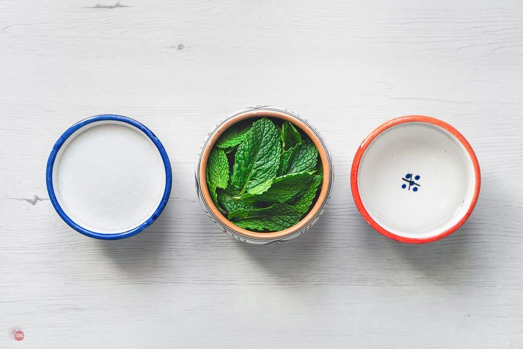 three bowls of ingredients