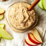 square picture of peanut butter dip