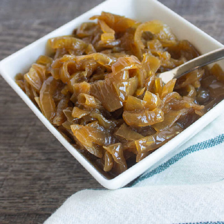 square photo of onions