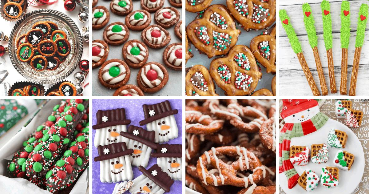 collage of pretzel pictures