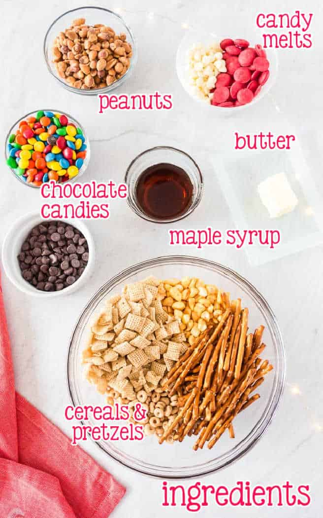 labeled picture of chex mix ingredients