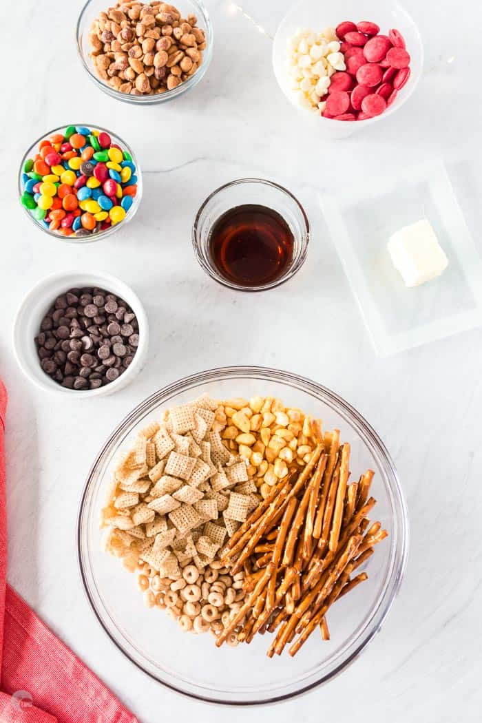snack ingredients in a bowl