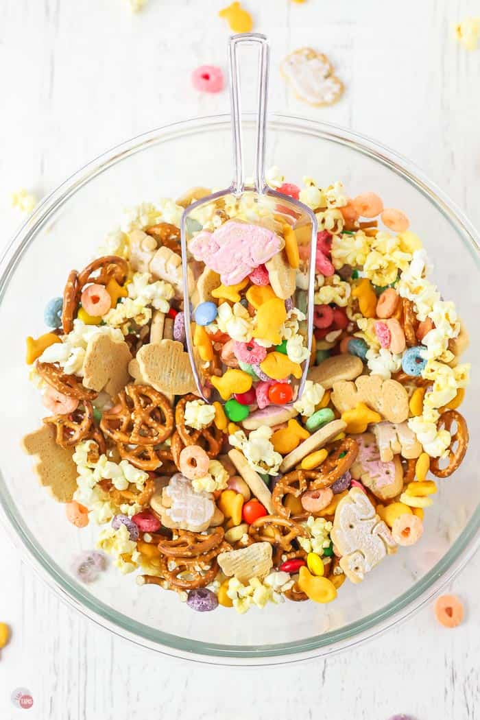 bowl of snack mix
