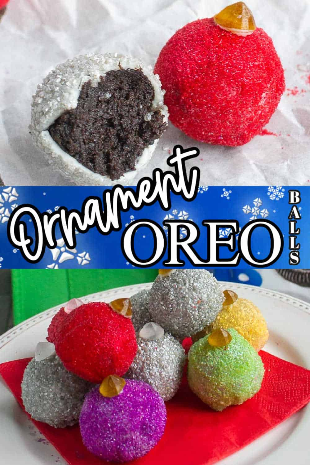 "collage with text ""ornament oreo balls"""