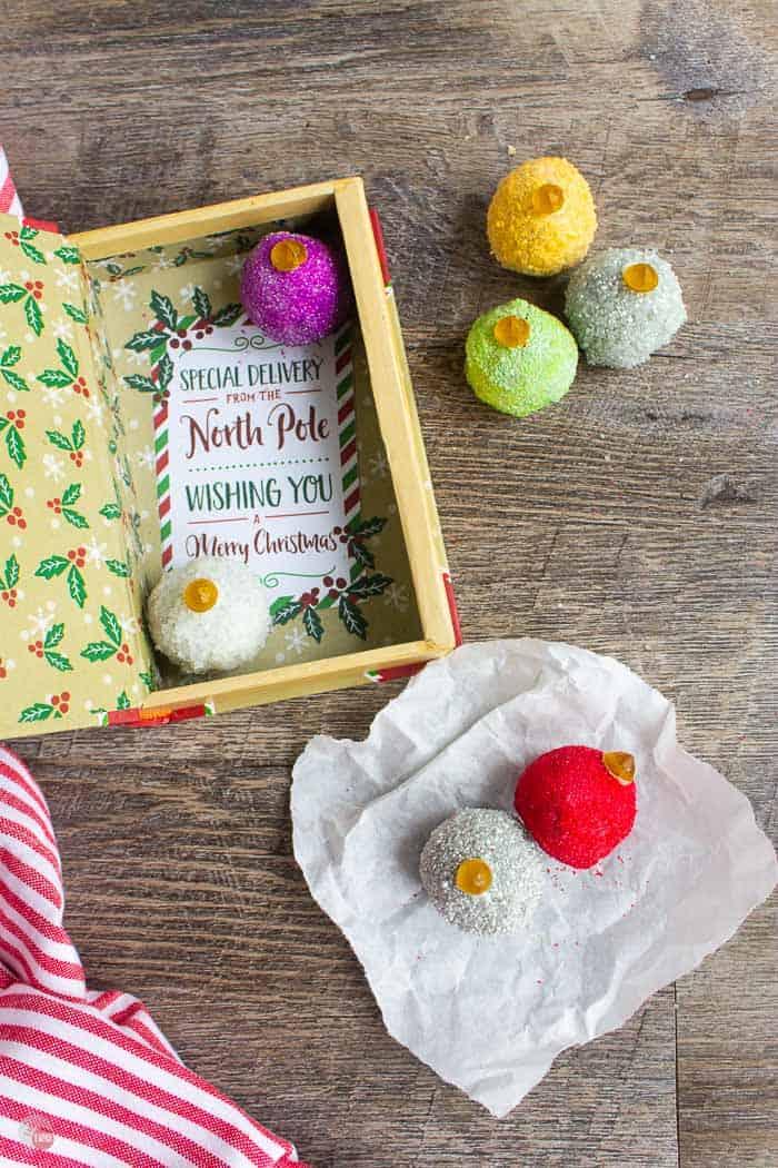 truffles and a Christmas box
