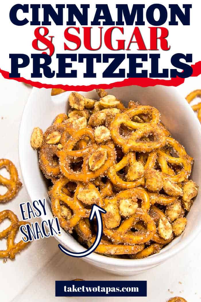 """pretzels with text """"cinnamon & sugar pretzels"""""""