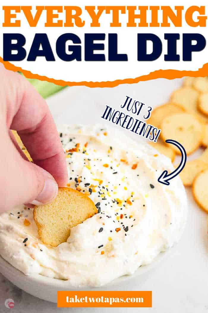 "dip with text ""everything bagel dip"""