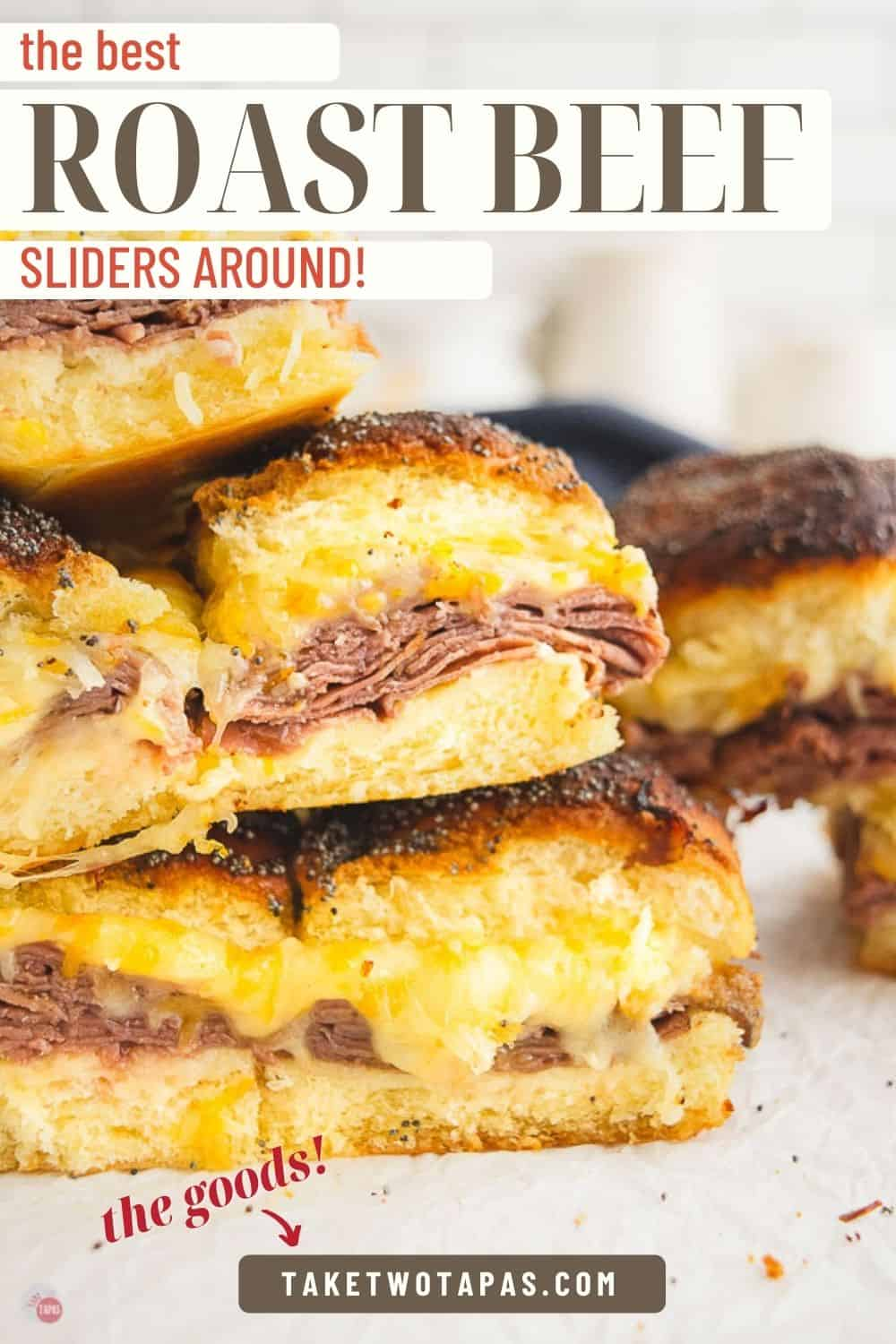 "sliders with text ""the best roast beef sliders around"""