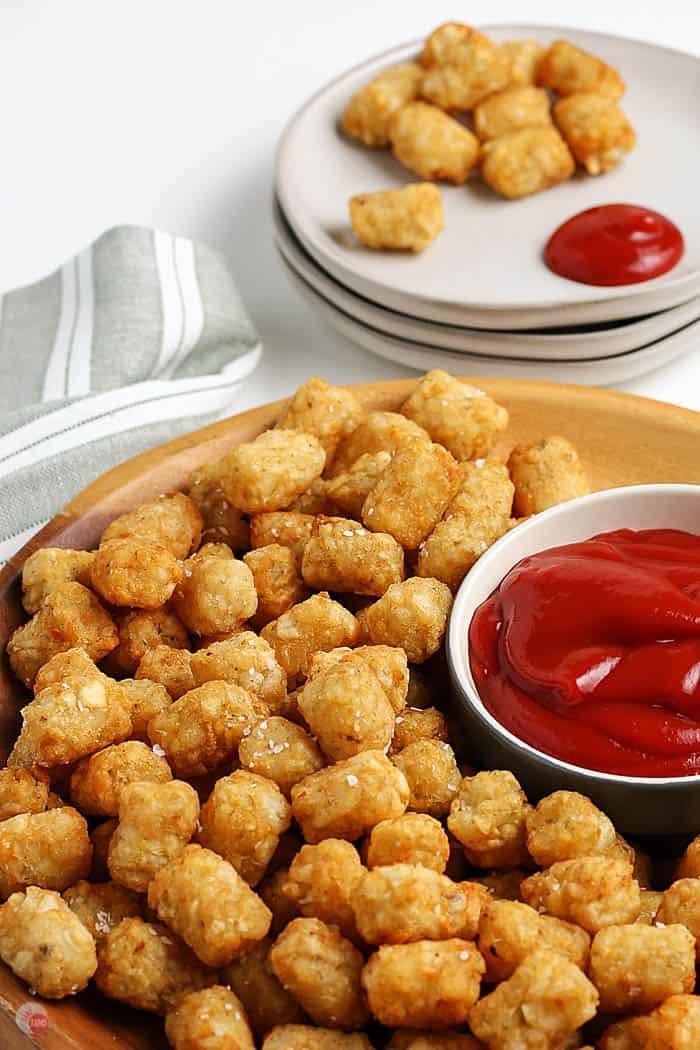 tater tots and ketchup