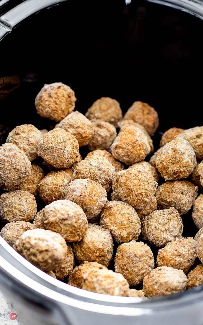 frozen meatballs in a crock pot