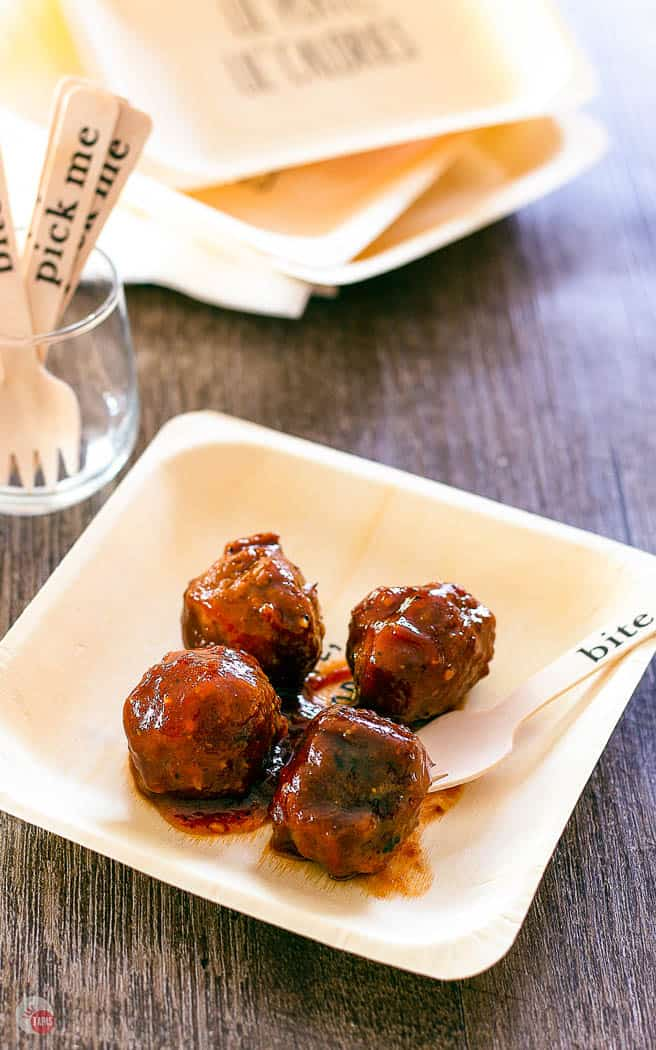 meatballs on a plate