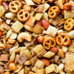 close up of snack mix