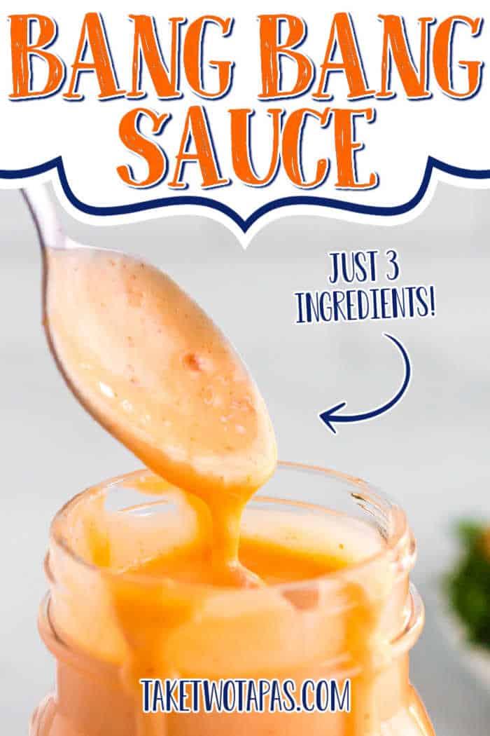 """sauce with text """"bang bang sauce"""""""