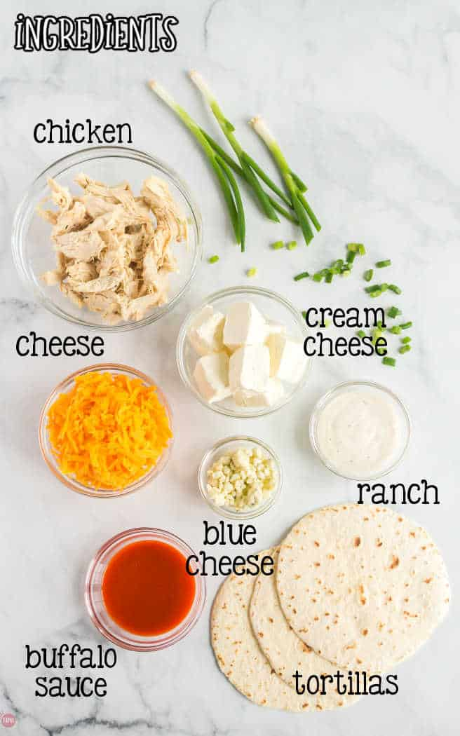 labeled ingredients for taquitos