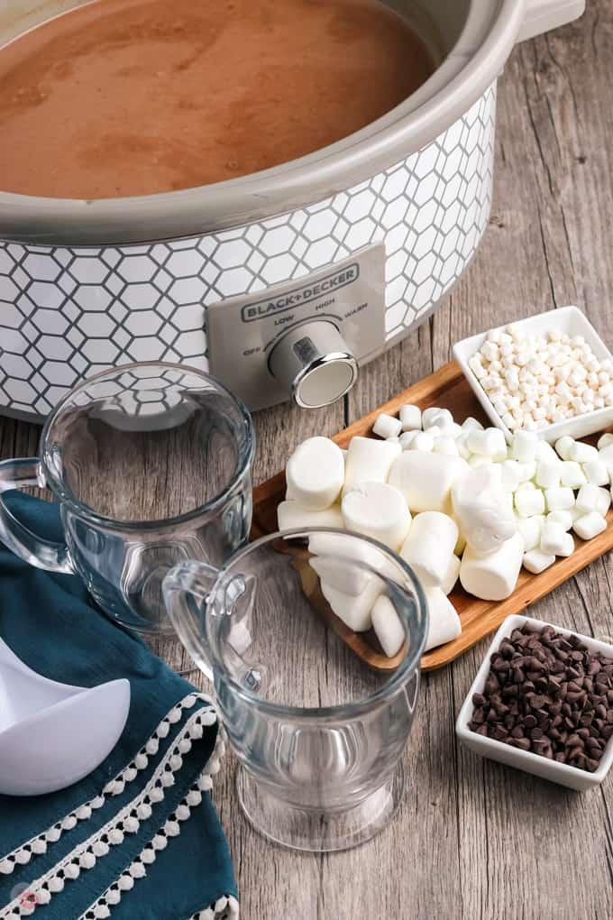 crockpot hot chocolate bar