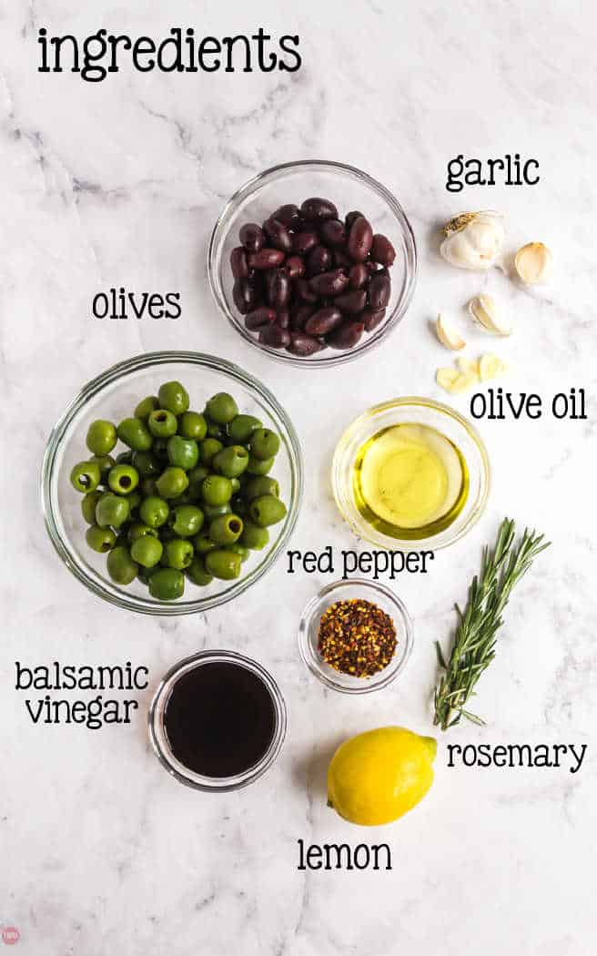 labeled picture of olive ingredients