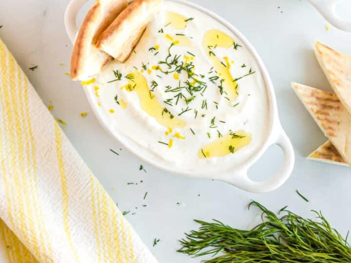 bowl of Greek yogurt sauce