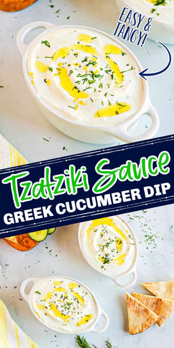 """collage with text """"tzatziki sauce"""""""