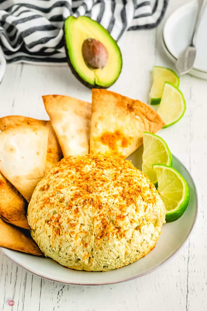 mexican cheese ball with tortilla chips