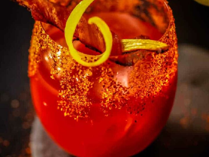 Classic Bloody Mary {Crispy Bacon Garnish}