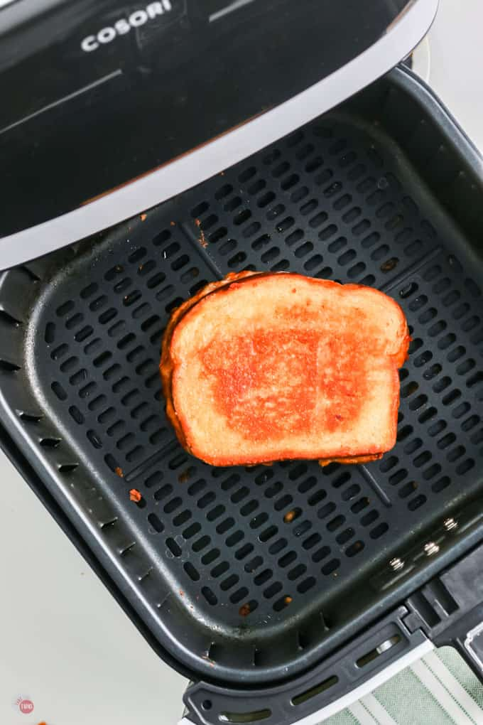 grilled cheese in basket
