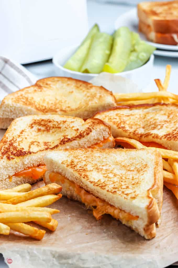 half sandwiches and fries