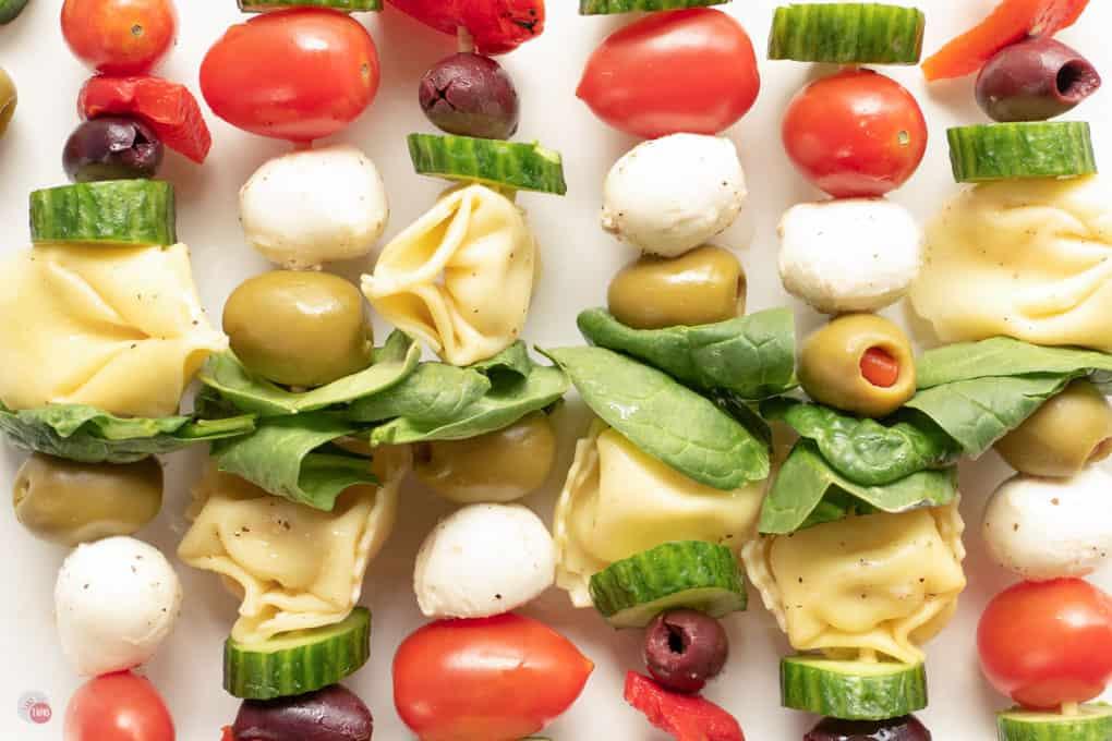 plate of Italian skewers