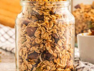 side view of jar of snacks