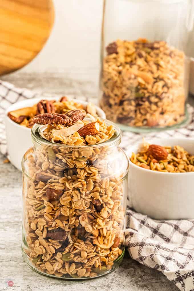 bowls of granola