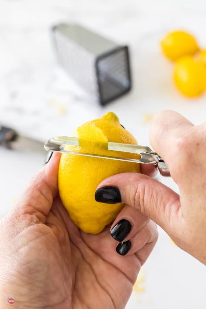 lemon and vegetable peeler