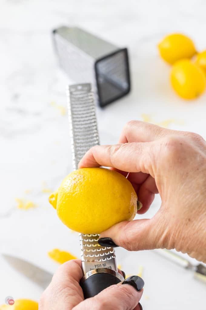 lemon and microplane