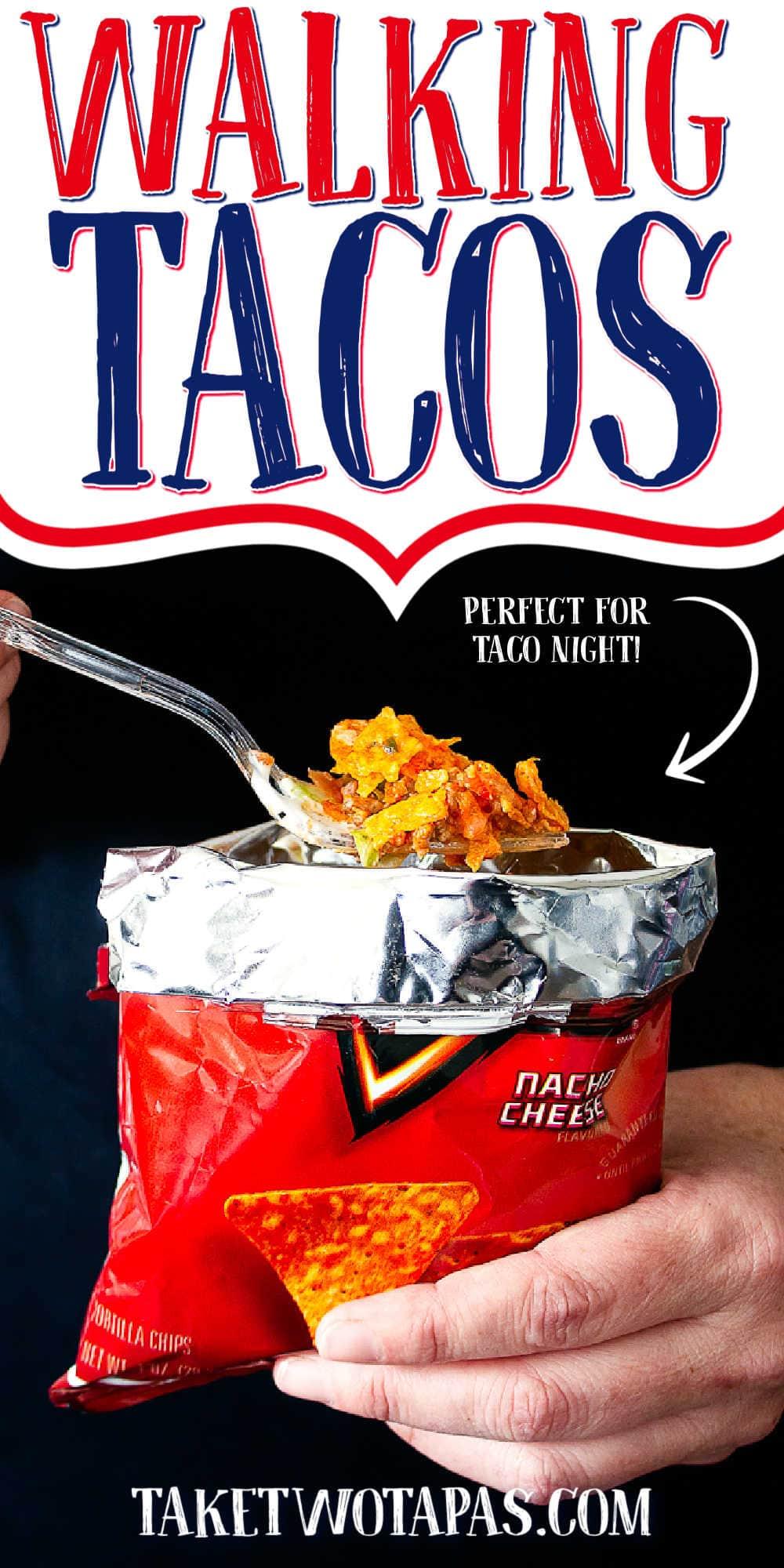 """bag of doritos with text """"walking tacos"""""""