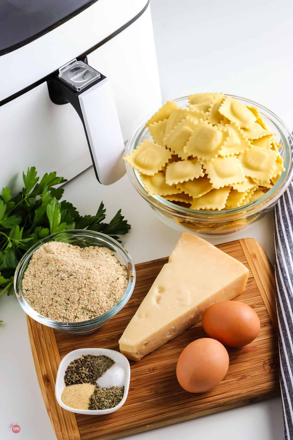 ingredients for toasted ravioli