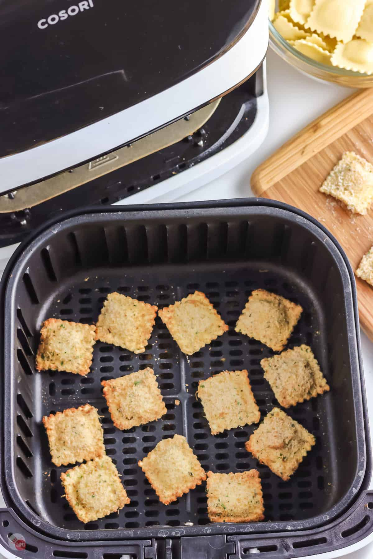 air fried toasted ravioli