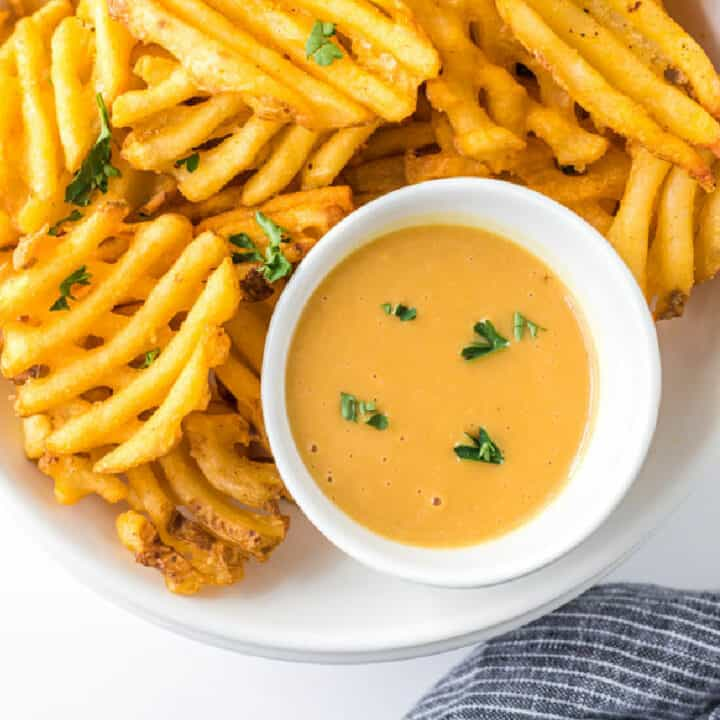 bowl of fries and sauce