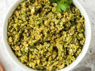 bowl of tapenade