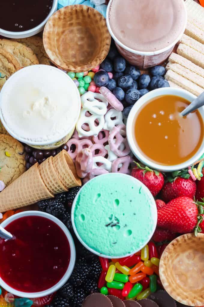 close up of ice cream board