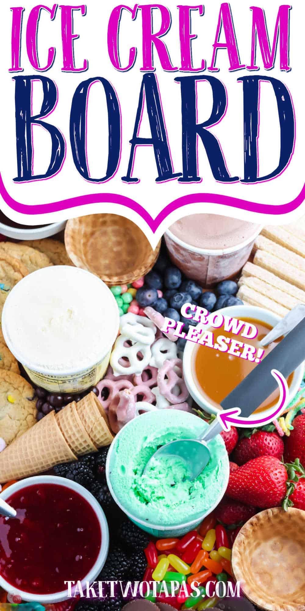 "ice cream sundae with text ""ice cream board"""