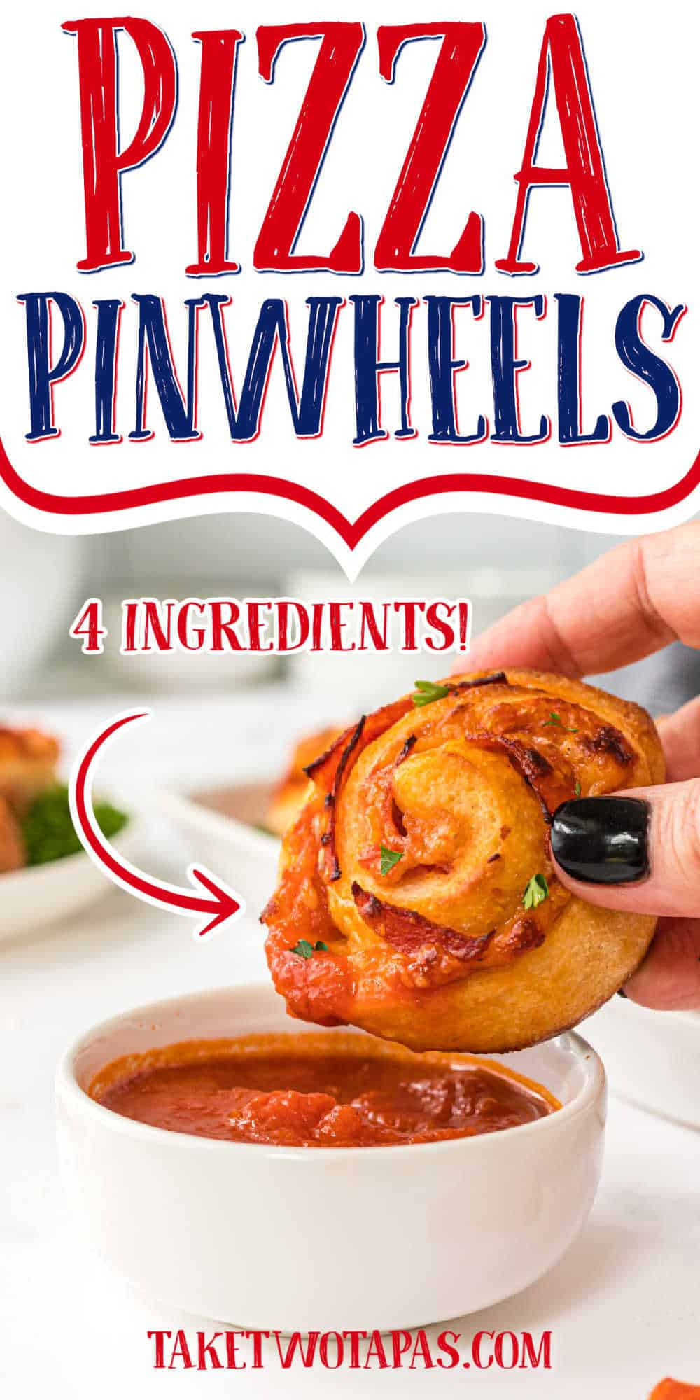"pinwheels with text ""pizza pinwheels"""