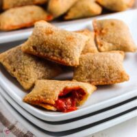 pizza rolls on a plate