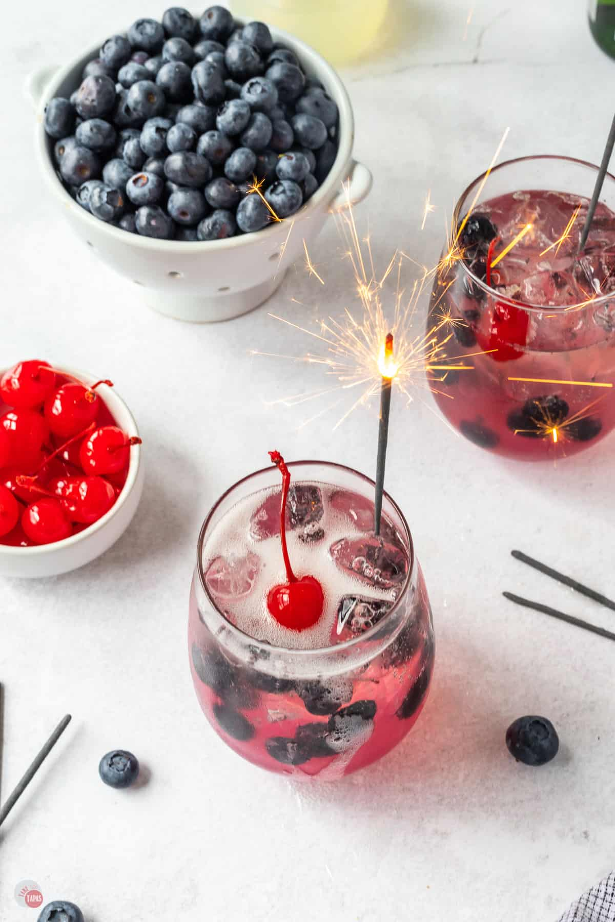 cocktail with sparkler